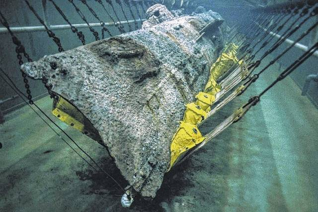 seventeen years ago the ten ton vessel was pulled from the water and transported to where it lies today the warren lasch conservation center run by an